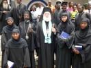 Ο Πατριάρχης με το Νέο Επίσκοπο Ρουάντα-Μπουρούντι και Αφρικανές Μοναχές (24-2-2013)