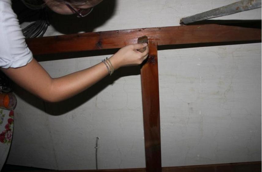 Συντήρηση του ξύλινου τελάρου του έργου