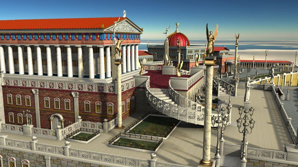 Η Ακρόπολη της «Επτάπολις», με την Ακαδημία των Εθνών.